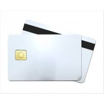 30mil White PVC Smart Card w/ Small Chip - - HiCo 2 Track - 100/Pack
