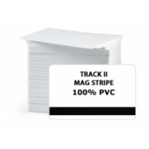 CR80 30Mil PVC Cards with HE 2 tracks Mag. Stripe, Graphic Quality (Pack of 100)