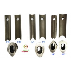 "Dies for Corner Cutter in 1/8"",  5/32"",  1/4"",  5/16"",  3/8"",  1/2"""