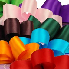 "Satin Ribbon Roll w/ Single Face 1/4""x100yds ( Discount on Bulk Sale )"