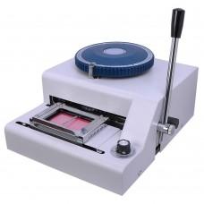 Plastic Card   Metal Plate Embosser w/ Indent Printing