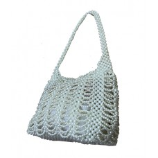 Fashion Beads Bag Limited Editon--White