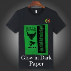 Glow-in-Dark  Inkjet heat transfer paper 8.5x11""