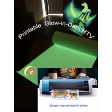 "HTV  PU  Printable  Glow in Dark Heat Transfer Vinyl-- 20""x1 yd"