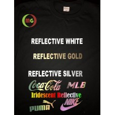 HTV Coos  Gold / White / Silver/ Iridescent Reflective Heat Transfer Vinyl  1yd