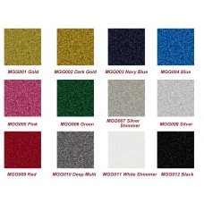 "HTV Coos Glitter Heat transfer Vinyl  w/ Sticky Backing For T-shirt, Garment etc. ---20""x 1yd or Bulk Sale"