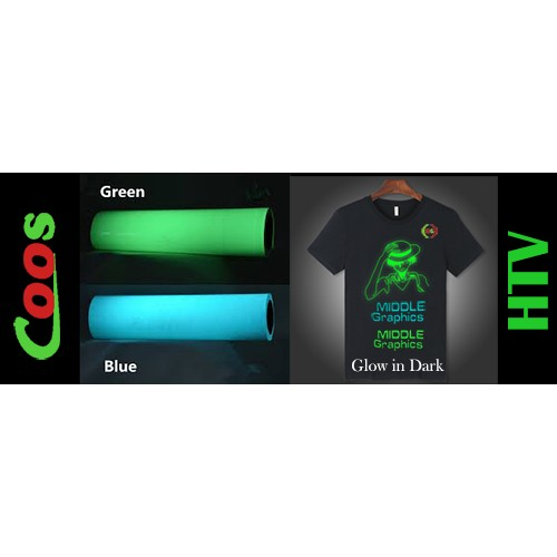 Coos Htv Phosphorescent Film Photo Luminescent Film Glow