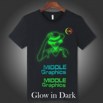 "HTV Coos Glow in Dark in Green / Blue Color  Heat Transfer Vinyl  For T-shirt etc. 20""x1yd or Bulk Sale"
