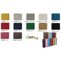 """HTV Coos Glitter Heat transfer Vinyl  w/ Sticky Backing For T-shirt, Garment etc. ---20""""x 1yd or Bulk Sale"""