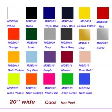 "HTV Coos PU Easyweed Elastic Stretch Heat Transfer Vinyl w/ sticky backing For T-shirt, Garment etc.-- 20""x12"" / Sheet"