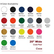 "HTV Coos  PU Heat transfer Vinyl HTV w/ Static Backing  For T-shirt, Garment etc.----20""x1yd or Bulk Sale"