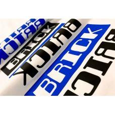 "HTV Coos 3D Brick PU--Black / White   20""x1yd"