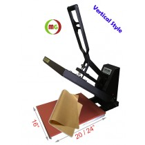 "16 X 20"" Heat Press (Flat) with Teflon-coated heat element ( Plus heat transfer paper/HTV start kits)  Vertical Version"