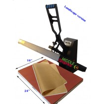 "16 X 24"" Heat Press (Flat ) with Teflon-coated heat element  Sublimation Transfer Heavy Duty 2 Versions"