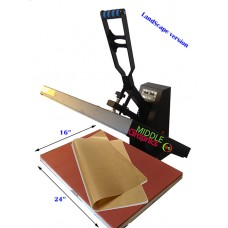 "16 X 24"" Heat Press (Flat ) with Teflon-coated heat element ( Plus heat transfer paper/HTV start kits)"