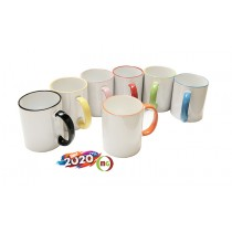 11oz Subli Coated Mug with Rim/Handle Colored  36pcs/Case