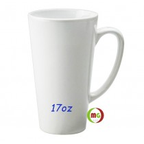 17oz Latte Sublimation Pure White Coated  Mugs