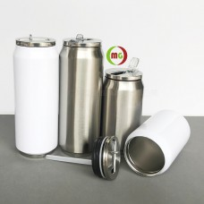 280/500 ML Sublimated Stainless Steel Coke Can Vacuum Water Bottle