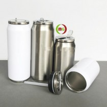 280/500 ML Sublimated Stainless Steel  Vacuum Coke Can
