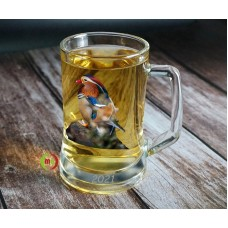 12oz Sublimation Coated Crystal Clear Glass  Munich Beer Mugs 2/pack