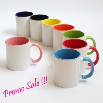 11oz Sublimation Mug with Inner/Handle Colored  36pcs/case---  Promo Sale
