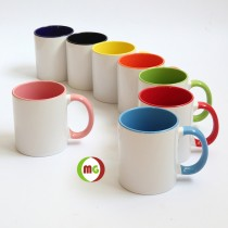11oz Subli Coated Mug with Inner/Handle Colored