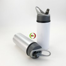 Aluminum Sublimation Water Bottle with Straw Top 6pcs/Pack