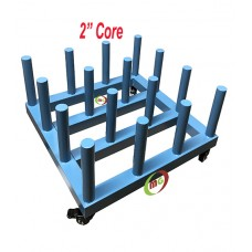 "Vinyl Rack / Vinyl Cart Stoage of 16 Rolls with   2"" Core"
