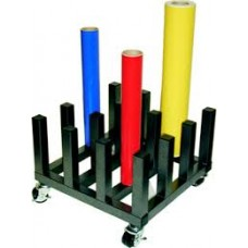 "Vinyl Rack / Vinyl Cart Stoage of 16 Rolls with a 3"" Core"